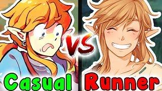 Casual VS Speedrun - THE GREAT PLATEAU (Legend Of Zelda Breath Of The Wild)