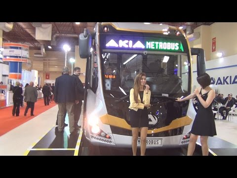Akia Metrobus Bus (2016) Exterior and Interior in 3D