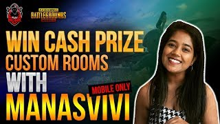 PUBG MOBILE CUSTOM ROOMS LIVE AND RP GIVEAWAY|WIN CASH PRIZE|PLAYMONK