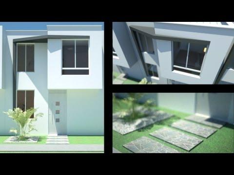 Casas economicas y modernas musica movil for Casa moderna minimalista interior 6m x 12 50m