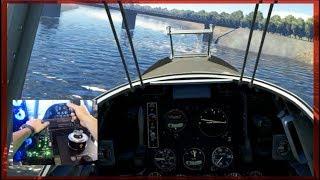 Stunt Flying Under Bridges!! FIRST Impressions Thrustmaster HOTAS Flight Sim | SLAPTrain