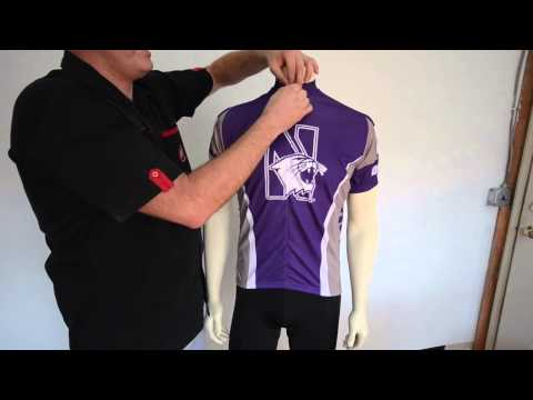 Northwestern University Wildcats Cycling Jersey