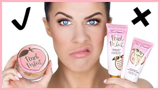 TOO FACED PEACH FOUNDATION, PRIMER & POWDER!! | FIRST IMPRESSIONS & REVIEW!!