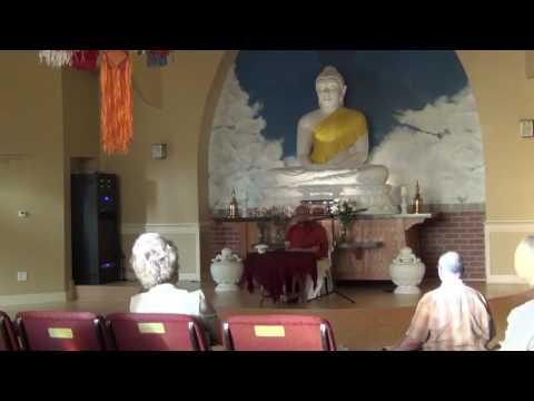 "Ven  Dr  Punnaji Dhamma Talk at Llue Lotus buddhisttempleTopic: ""Buddhism Is Not Atheistic""Ven"