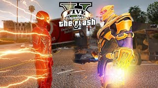 The Flash VS Thanos! Fastest and Strongest! (GTA 5 Flash Mod)