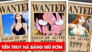 9 thành viên băng hải tặc mũ rơm có số tiền truy nã mới nhất One Piece
