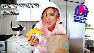 i filmed a fast food challenge and i lowkey regret it haha