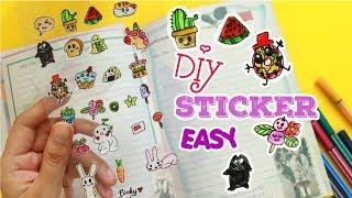 Hướng dẫn làm hình dán đơn giản 🎀 🌸Diy Sticker easy (Pinky Channel)