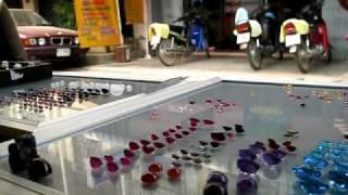 Gemstone seller Mae Sai Thailand
