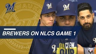 Brewers on Game 1 matchup with Dodgers