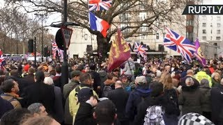 'Brexit Betrayal' march led by Tommy Robinson held in London