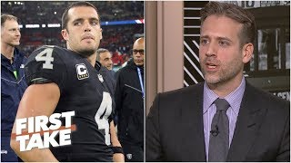 Max Kellerman responds to Derek Carr: 'It's my job to tell you what I think' | First Take