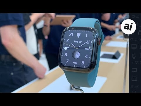 Apple Watch Series 5 -- Hands On!