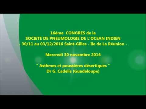 Asthmes et poussières désertiques. Dr G. Cadelis Guadeloupe