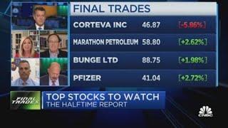 Final Trades: Marathon Petroleum, Corteva, Pfizer & more