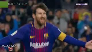 جميع اهداف برشلونة في الدوري الاسباني 2018 laliga     -