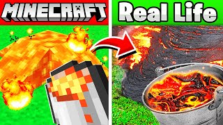 MINECRAFT ITEMS IN REAL LIFE! (animals, items, blocks)