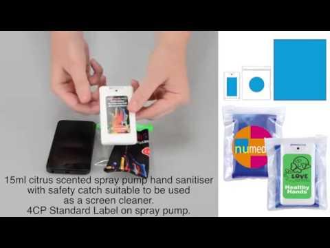 LL603i Custom Microfibre Lens Cloth With Screen Cleaner - OP020