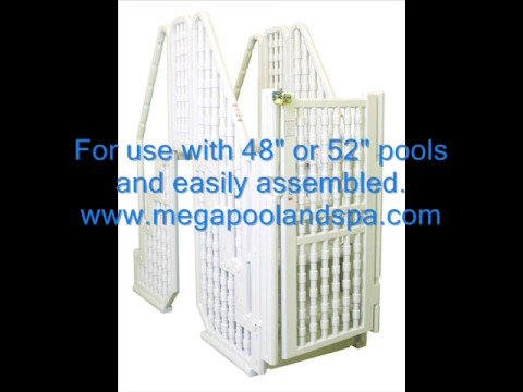 Above Ground Swimming Pool Entry System Step Locking Gate