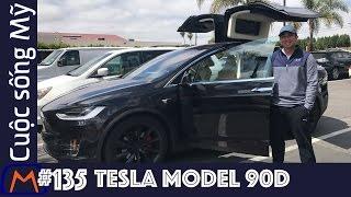 Cuộc sống Mỹ - Vlog 135: Trải nghiệm xe Tesla model X 90D cùng với anh Mai Trieu Nguyen