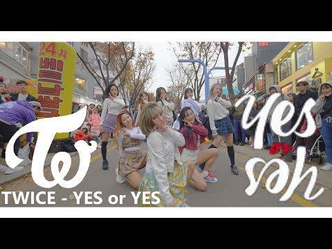 [KPOP IN PUBLIC] IN 홍대, TWICE(트와이스) - YES or YES Full Dance Cover 커버댄스 4K