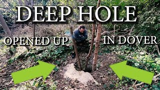 WE FOUND A MASSIVE HOLE IN THE GROUND!!!! - DOVER -