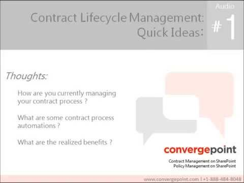 Contract Management Software on SharePoint - Automating Contract Management - Audio #1