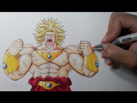Drawing Broly the Legendary Super Saiyan