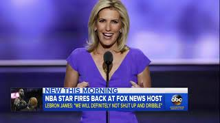 War of words between LeBron James and Laura Ingraham