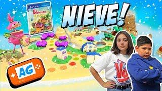NIEVE ! en la ISLA de PETOONS PARTY con Abrelo Game