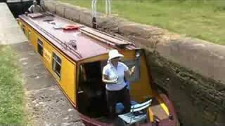 Relaxing canal boat ride