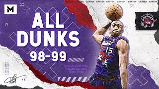 Vince Carter ALL DUNKS From 1998-99 NBA Season!