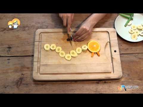 Cómo hacer una oruga con frutas bien divertida