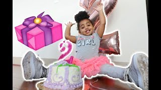 BABY'S 2 YEAR OLD BIRTHDAY REACTION!!!!
