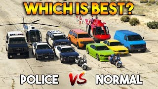 GTA 5 ONLINE : POLICE VEHICLE VS NORMAL WHICH IS BEST?