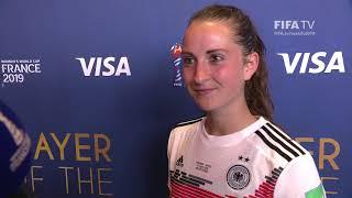 Sara Daebritz – Player of the Match – Germany v Spain