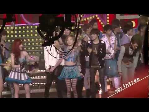 EXO-K and Taeyeon moment on Music Bank