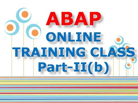 SAP ABAP ONLINE TRAINING | ABAP TRAINING DEMO | ABAP OVER VIEW | ABAP PROJECT SUPPORT