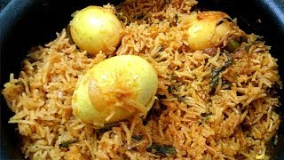 Egg Biryani in Tamil / Muttai Biriyani / முட்டை பிரியாணி