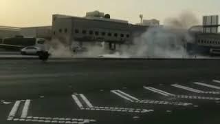 حادث تفحيط من قوه الصدمه طارت المكينه !!!     -