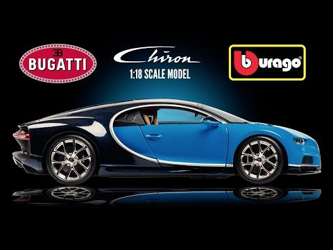 Bburago 1:18 Bugatti Chiron Blue Diecast Car