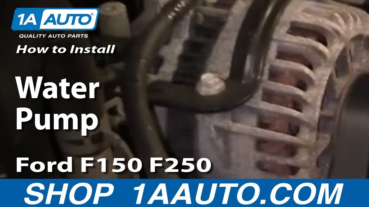 How To Install Replace Water Pump Ford F150 F250 Excursion