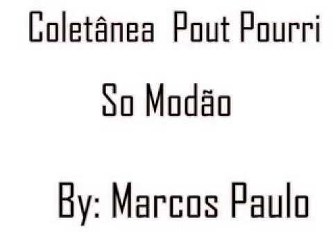 Baixar Coletânea Pout Pourri So Modão