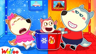 Wolfoo's Hot vs Cold Roommate - Kids Stories About Wolfoo Family   Wolfoo Family Kids Cartoon