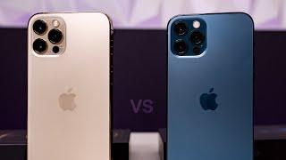 Pacific Blue & GOLD iPhone 12 Pro Unboxing & Comparison!