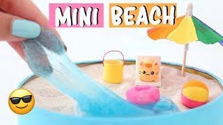 MAKING 7 AMAZING MINI BEACH ZEN GARDEN DIY - Water Slime & Squishies COMPILATION!