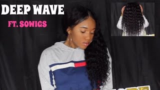 HOW TO STYLE A DEEP WAVE WIG FT. SOWIGS