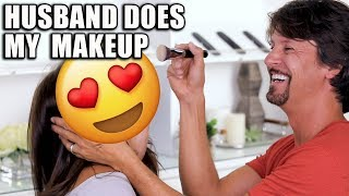 HUSBAND DOES MY MAKEUP | Unboxing PR Packages w/ James