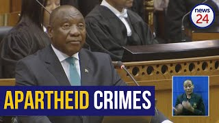 WATCH | It is treasonous to deny apartheid was a crime against humanity - Ramaphosa