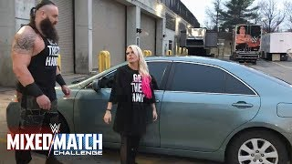 Braun Strowman teaches Alexa Bliss how to flip cars for WWE Mixed Match Challenge